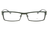 EFASHION E1174 Stainless Steel/ZYL Unisex Full Rim Square Optical Glasses