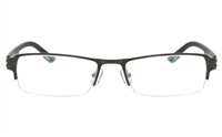 ZOLO Z6627 Stainless Steel/TR90 Unisex Semi-rimless Square Optical Glasses