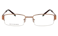 Poesia 6028 Stainless Steel Mens&Womens Semi-rimless Optical Glasses