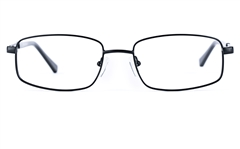 Poesia 6630 Stainless Steel Womens Square Full Rim Optical Glasses